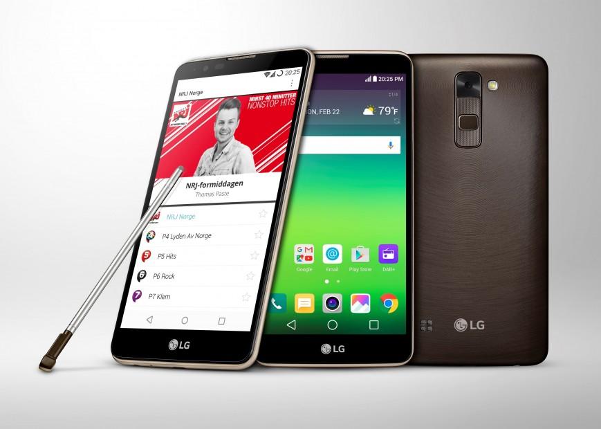 Смартфон LG Stylus 2 поддерживает DAB+