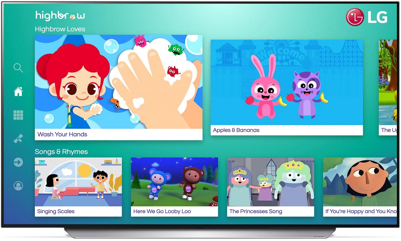 Популярные видео Highbrow расширяют возможности обучения детей на телевизорах LG