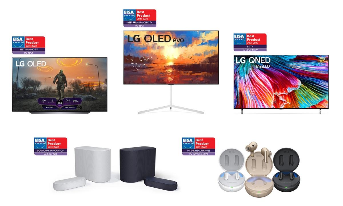 Награды LG OLED на EISA Awards 2021